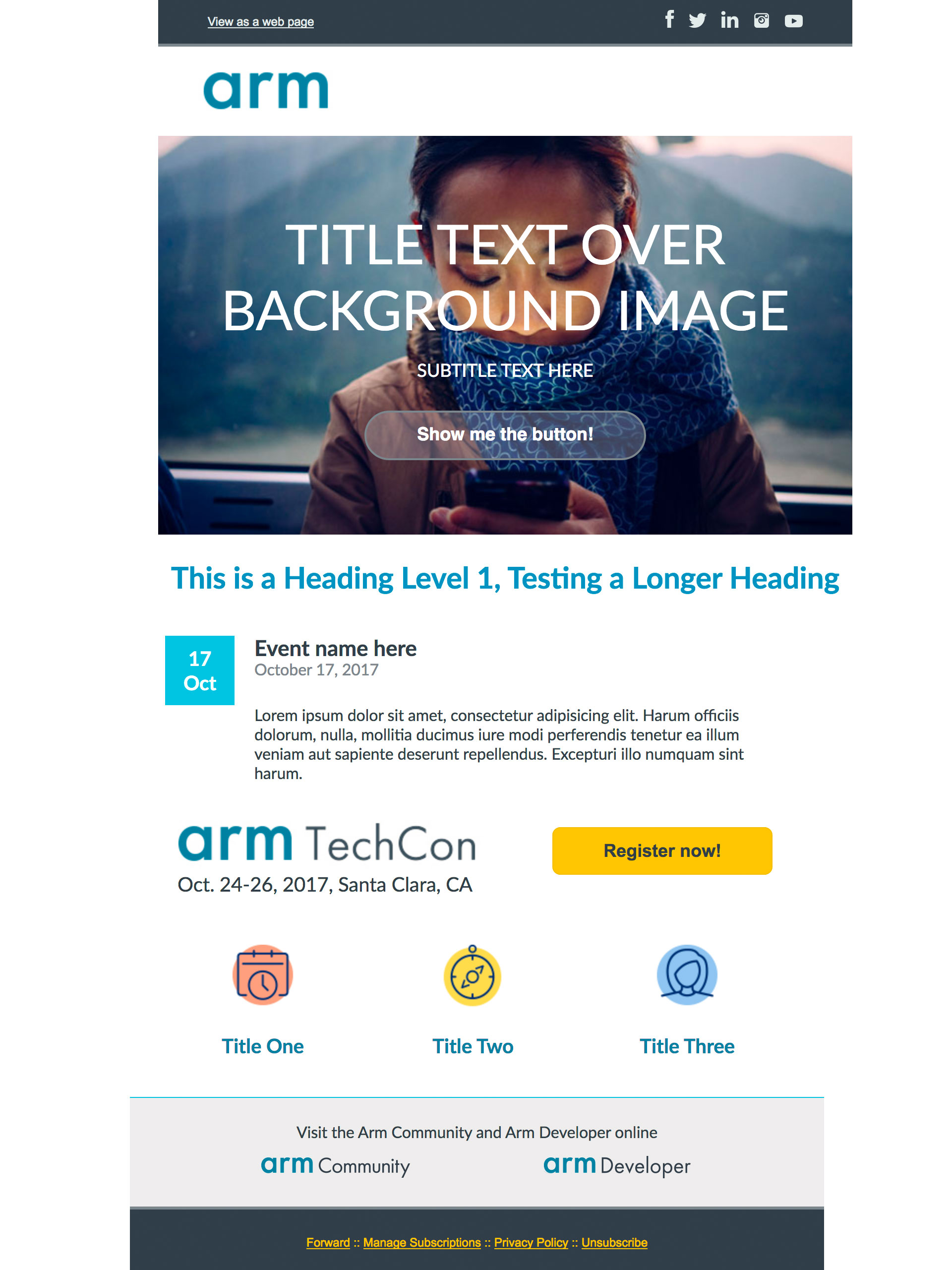 arm corporate email template