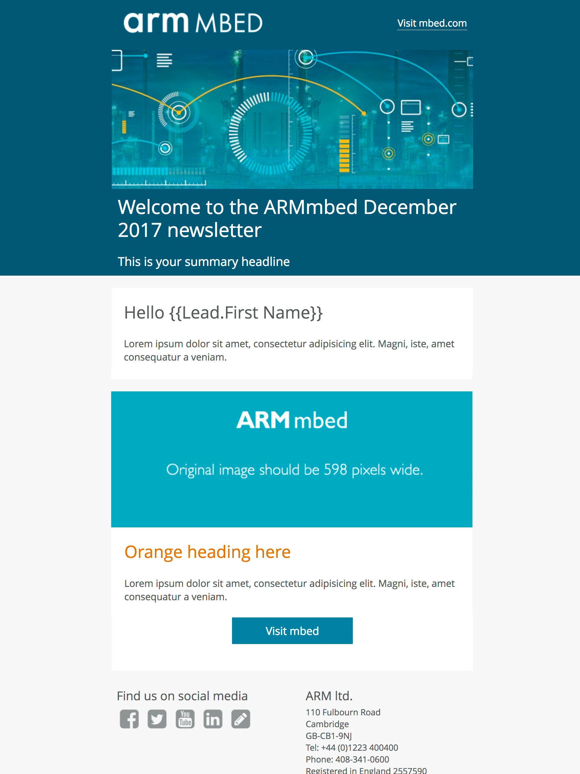 arm mbed email template
